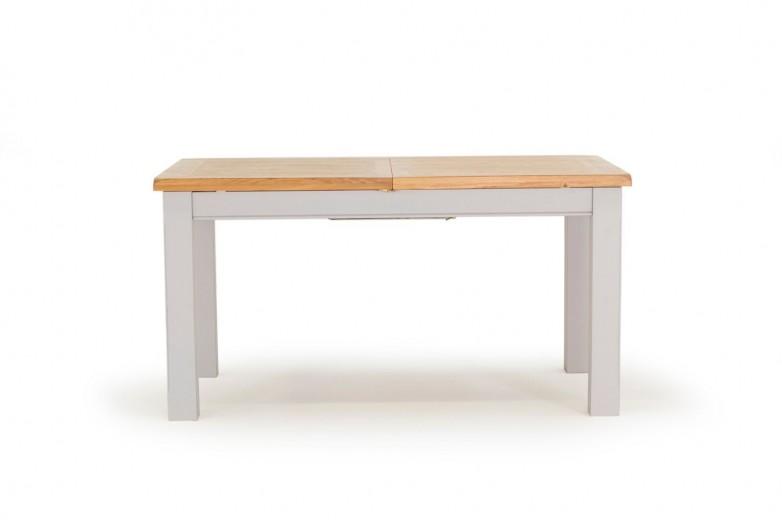 Masa extensibila din lemn de salcam si stejar Clemence Grey / Oak, L150-190xl90xH78 cm