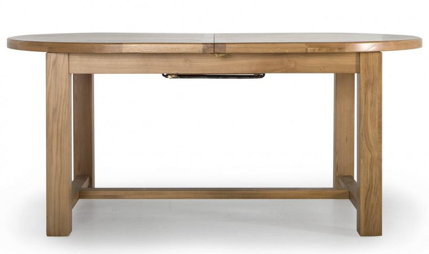 Masa extensibila din lemn de stejar si furnir Hampshire Oak, L180-220xl110xH77 cm