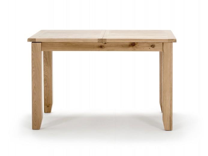 Masa extensibila din lemn de stejar si furnir Ramore Oak, L120-165xl80xH76 cm