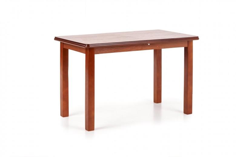 Masa extensibila din MDF si lemn de fag Dinner Cherry, L120-158xl68xH74 cm