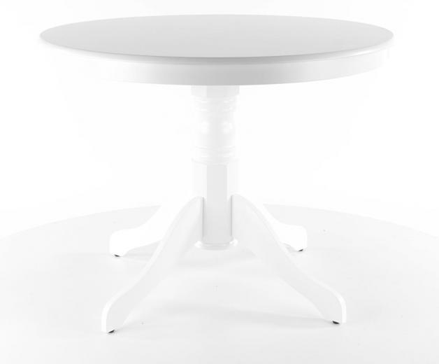 Masa rotunda Windsor alba, Ø100xh75 cm