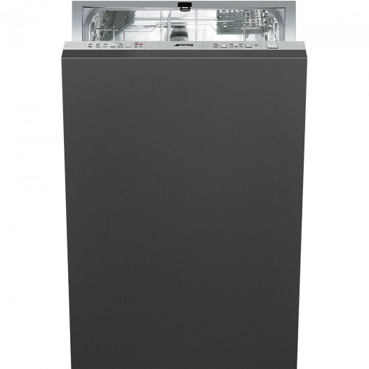 Masina de spalat vase incorporabila STA4507, 45 cm, 10 seturi, Negru, SMEG