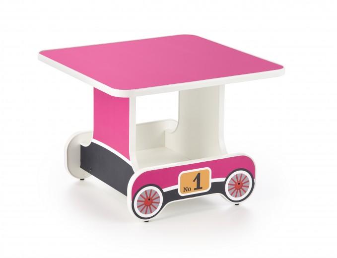 Masuta pentru copii, din pal Lokomo Roz, L60xl60xH45 cm