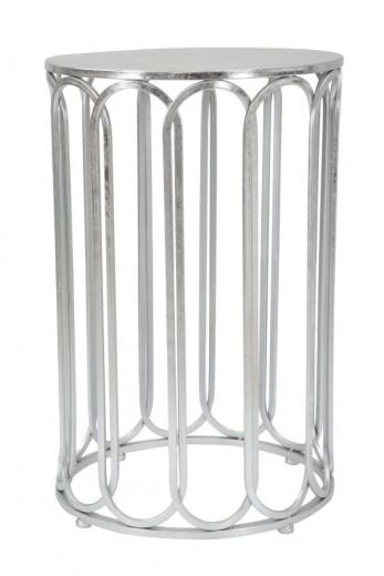 Masuta suport telefon din metal Roman Glam Argintiu, Ø37xH57 cm