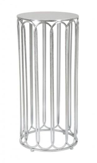 Masuta suport telefon din metal Roman Tall Glam Argintiu, Ø37xH80 cm