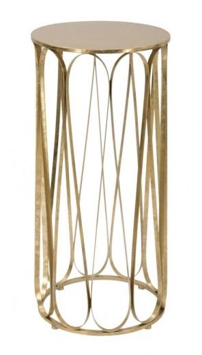 Masuta suport telefon din metal Venice Glam Auriu, Ø37xH81 cm
