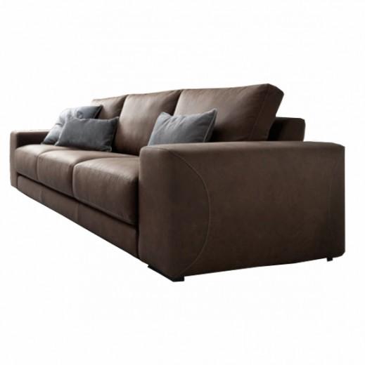 Canapea fixa 3 locuri Maxwell Brown, l262xA103xH85 cm