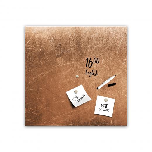 Memo Board Grey Copper MB105, 30 x 30 cm