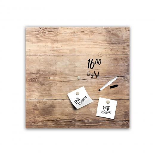 Memo Board Wood MB108, 30 x 30 cm