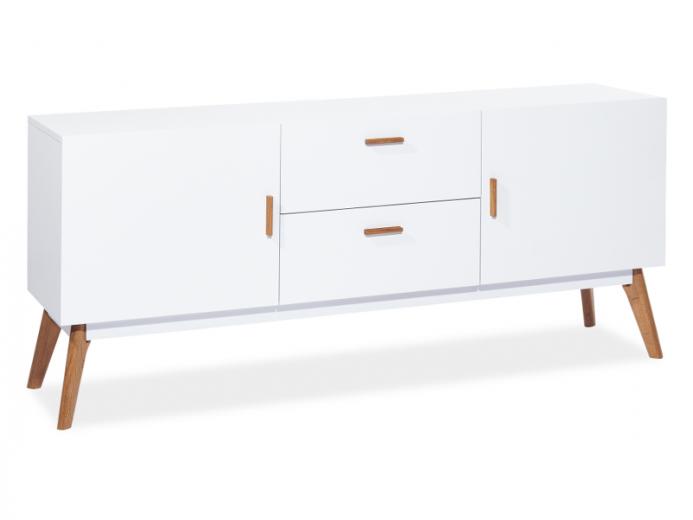 Comoda din lemn masiv si MDF Milan K1, l160xA42xH70 cm