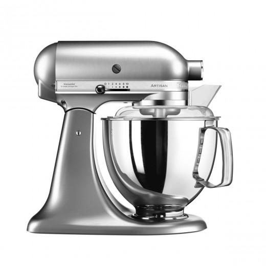 Mixer cu bol Artisan Elegance 5KSM175PSENK, 4,8 L, Brushed Nickel, 300W, KitchenAid