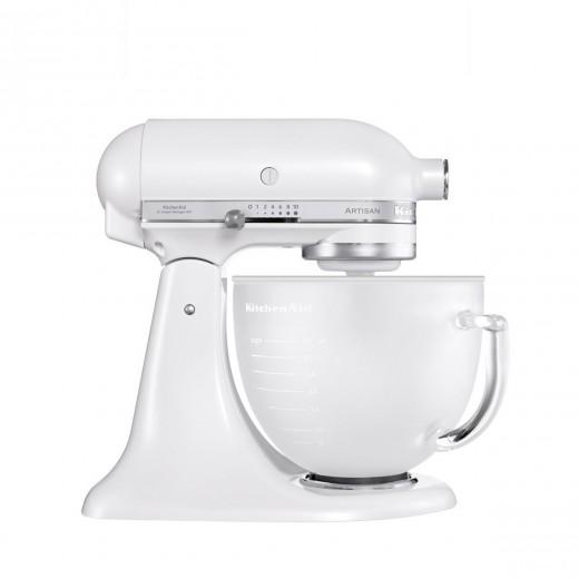 Mixer cu bol Artisan 5KSM156EFP, 4,8 L, White, 300W, KitchenAid