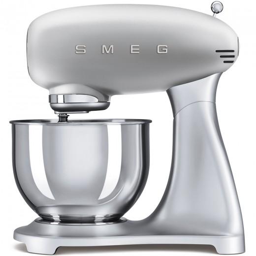 Mixer cu bol SMF01SVEU, Argintiu, Retro 50, SMEG