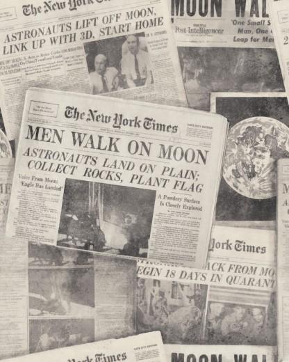 Set 3 role Tapet Imprimat Digital Men on Moon Neutral