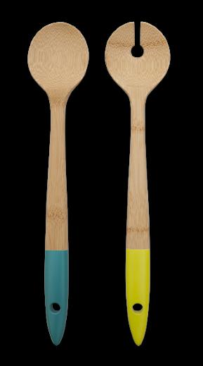 Ustensile servit salata, Bambus, NBA029