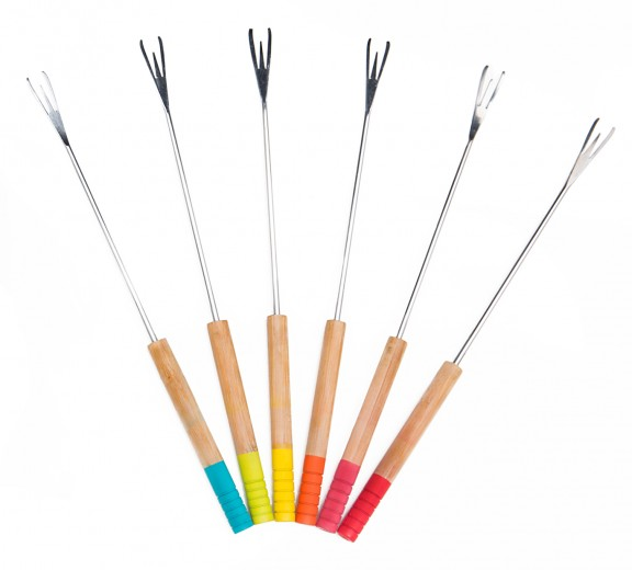 Set 6 Furculite Fondue, Multicolor