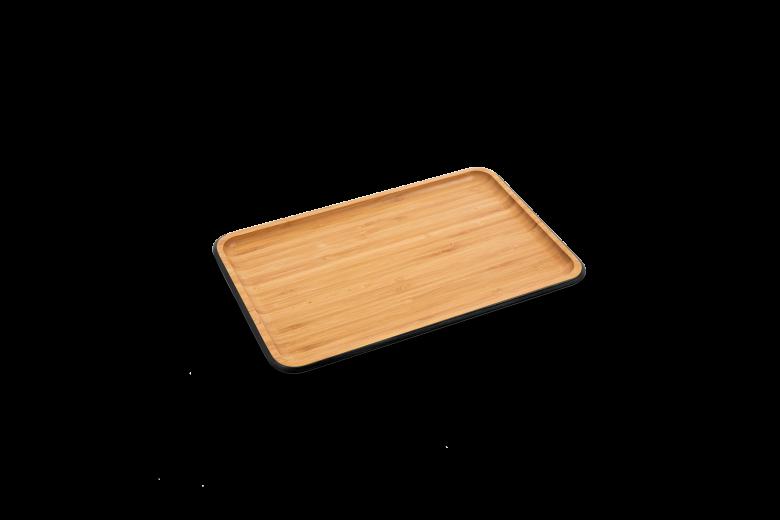 Tava pentru servit, Bambus, Anthracite, 33 x 21 cm