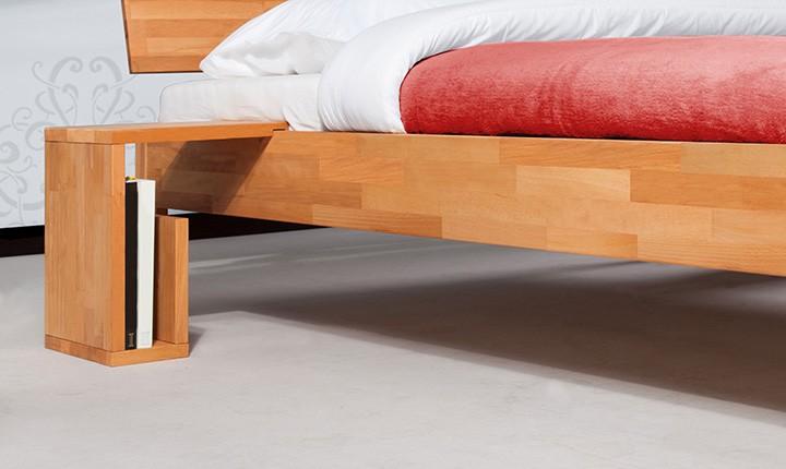 Noptiera Vento S natural din lemn masiv de fag, l35xA30xH40 cm