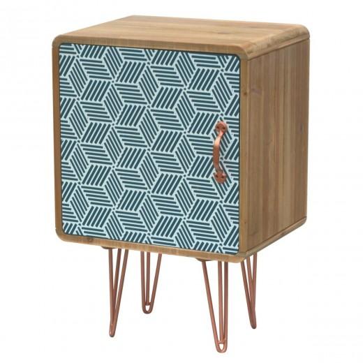 Noptiera din lemn de brad, Portofino F046, l40xA30xH60 cm