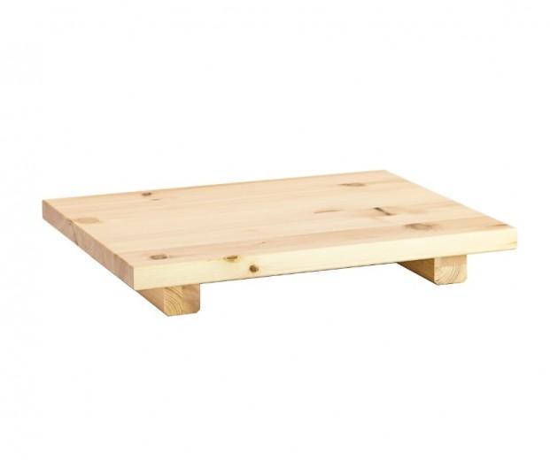 Noptiera din lemn de pin Dock Natural, l45xA34xH5 cm