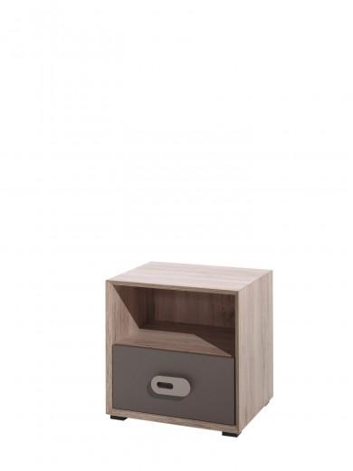 Noptiera din pal cu 1 sertar pentru copii Emiel Maro / Stejar, l48xA40xH48 cm