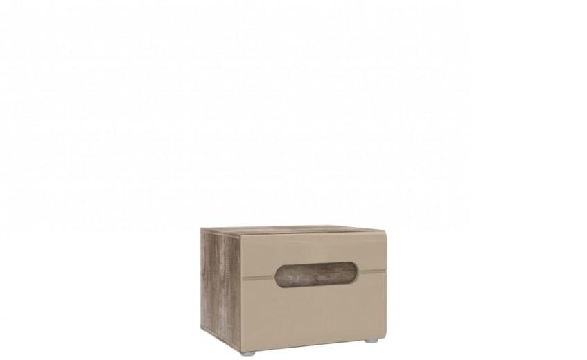 Noptiera din pal, cu 1 sertar Tadita Stejar / Bej, l50xA43,2xH37 cm