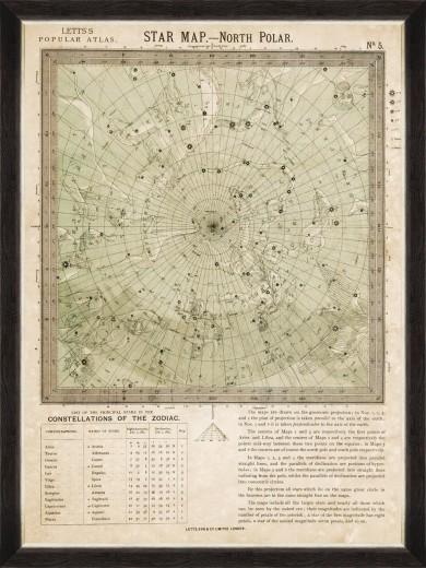 Tablou Framed Art North Polar Star Map