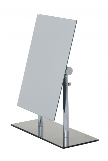 Oglinda cosmetica de masa, cu inaltimea reglabila, Pinerolo Crom, L23xl10xH27-35 cm