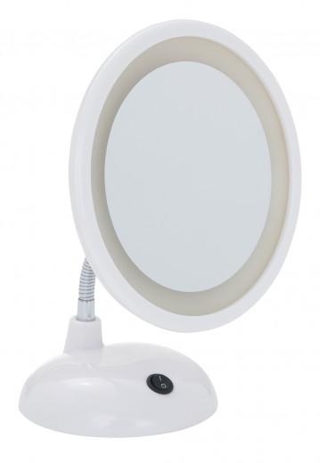 Oglinda cosmetica de masa, cu LED, Style Alb, Ø16xH28 cm