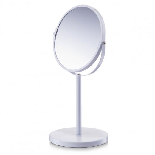 Oglinda cosmetica de masa, Metal White, Ø 15xH35 cm