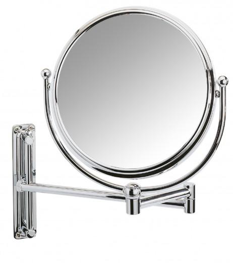 Oglinda cosmetica de perete, extensibila, Deluxe Crom, Ø19xl23-33xH28,5 cm