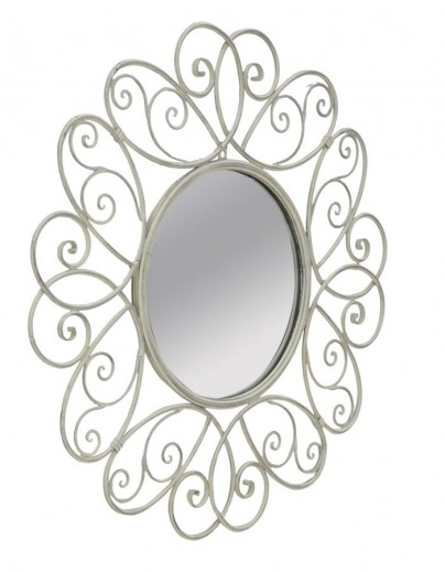 Oglinda decorativa din metal Class Gri, Ø68,5 cm