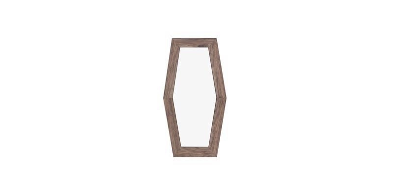Oglinda decorativa cu rama din pal Elita Big Natural, l51,4xH86,2 cm
