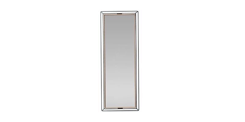 Oglinda decorativa cu rama din pal Louisa Large Nuc / Negru, l30,5xH80,6 cm