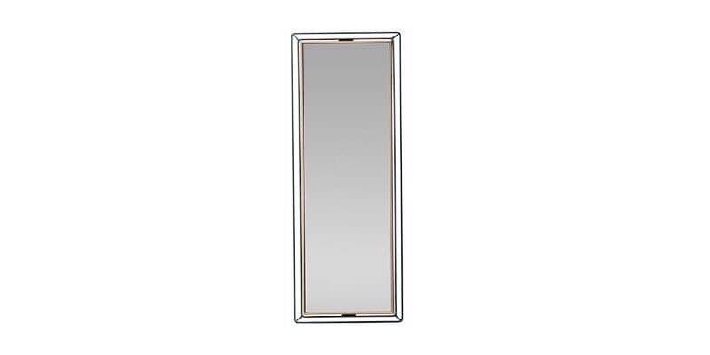 Oglinda decorativa cu rama din pal Louisa Small Nuc / Negru, l20,5xH80,6 cm