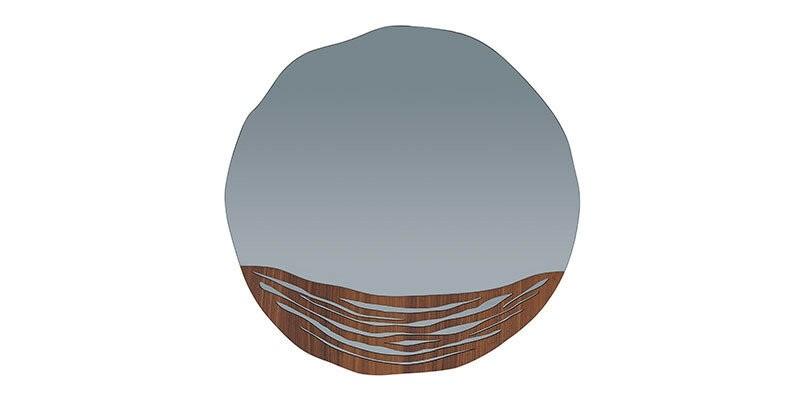 Oglinda decorativa cu rama din pal Montana Nuc, l75,3xH74,5 cm