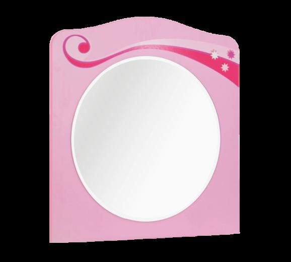 Oglinda decorativa cu rama din pal, pentru copii Little Princess Pink, l64xA2xH68 cm