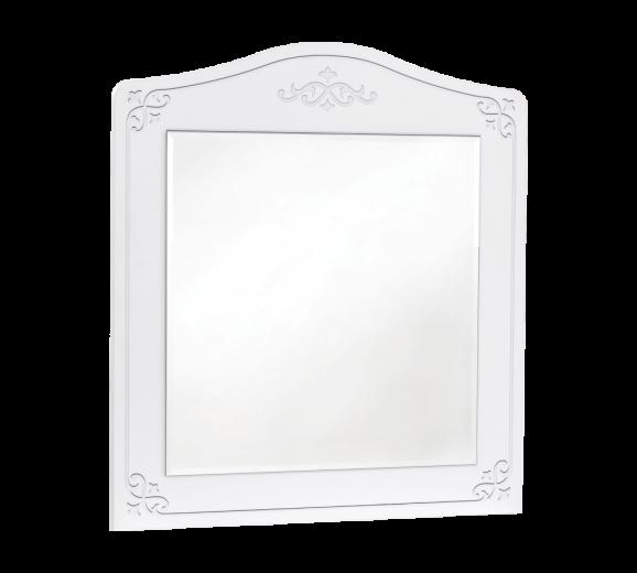 Oglinda decorativa cu rama din pal, pentru tineret Selena Alb, l73xH90 cm