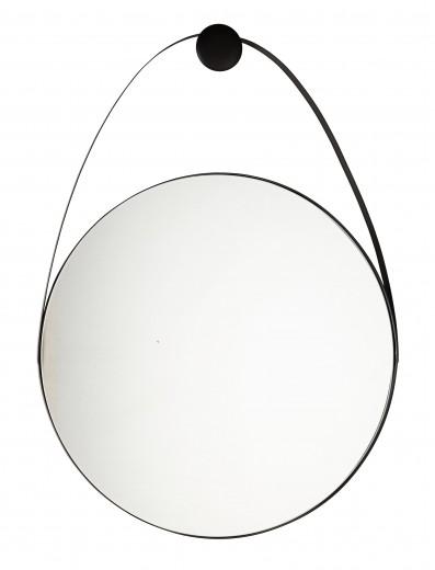 Oglinda decorativa cu rama metalica Keiran Medium Negru, L61xl88 cm