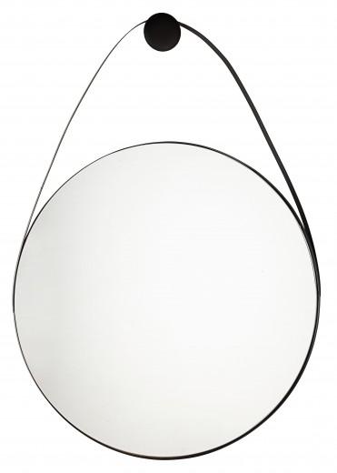 Oglinda decorativa cu rama metalica Keiran Tall Negru, L75xl107 cm