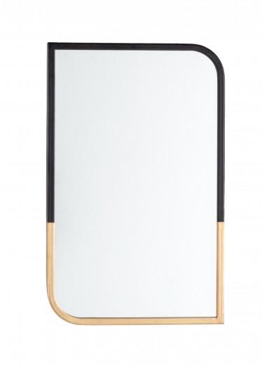 Oglinda decorativa cu rama metalica Reflix Negru / Auriu, L35xl55 cm