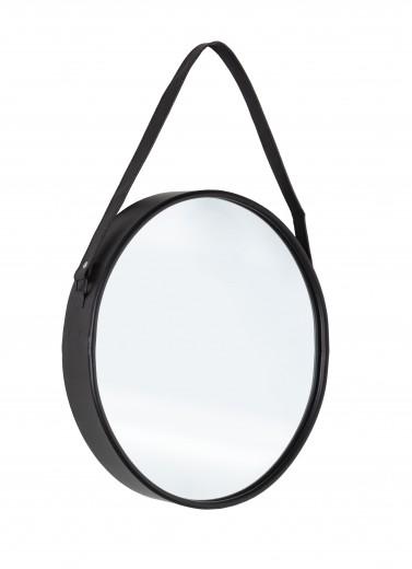 Oglinda decorativa cu rama metalica Rind Oval Negru, L41xl51 cm