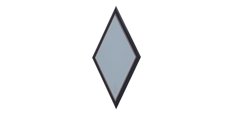 Oglinda decorativa Diamond Negru / Auriu, l49xH92 cm