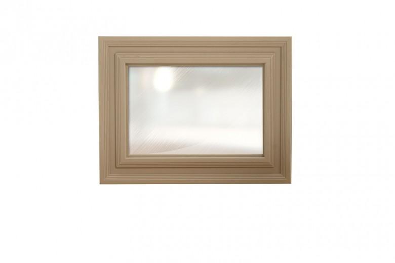 Oglinda decorativa din lemn de stejar si furnir Logan Taupe, l110xA4,5xH85 cm