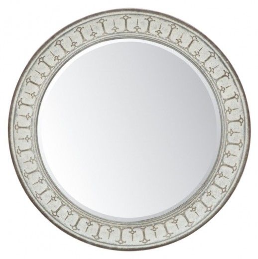 Oglinda decorativa din MDF si metal Mok Gri, Ø106 cm