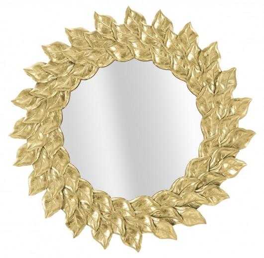 Oglinda decorativa din metal  Petal Auriu, Ø73 cm