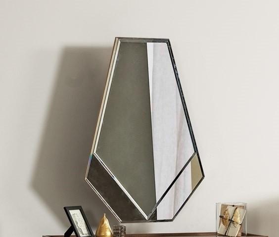 Oglinda decorativa din pal Pietro Antracit, l74xH94 cm