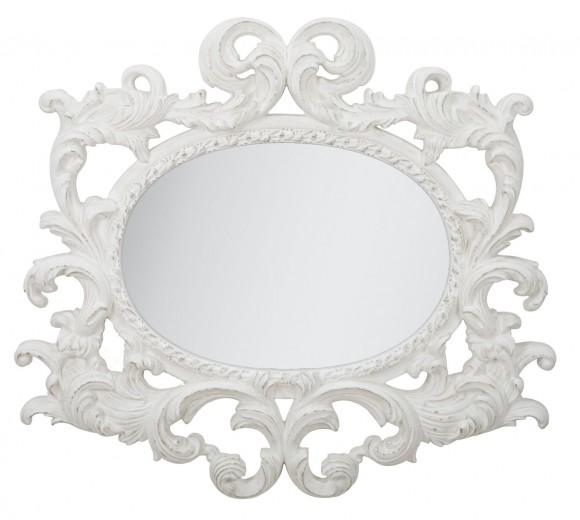 Oglinda decorativa din rasina Siwt Alb, 110 x 100 cm