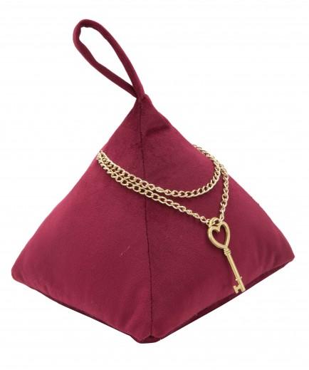 Opritor usa din material textil Triangle Bordeaux, L14xl14xH20 cm