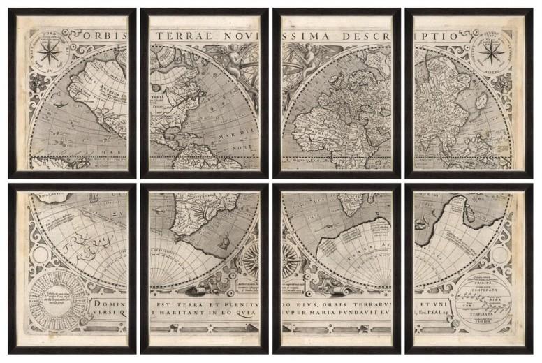 Tablou 8 piese Framed Art Orbis Terrae Novissima